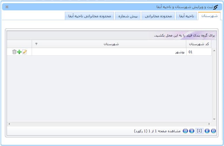 تعیین حوزه های جغرافیایی در سامانه ارتباط مردمی و حوادث آب و فاضلاب (122)